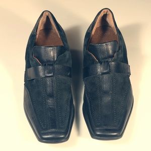 Hogl womens suede trim loafers